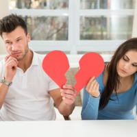 Couple going through divorce