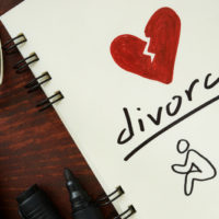 Notepad that says divorce