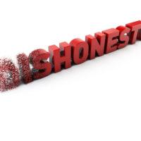Dishonesty sign