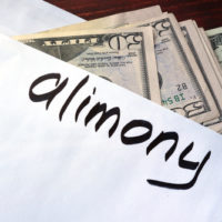 Envelope w:money and Alimony written on it