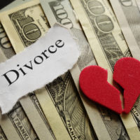 A heart with money:divorce