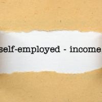 Paper that reads Self-Employed income