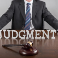 Judgment sign