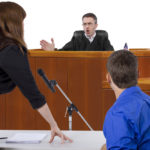 A courtroom hearing