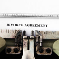 Type writing reads divorce agreement