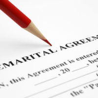 The document of a Premarital Agreement