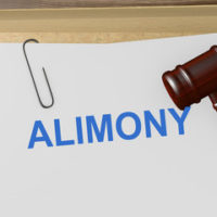 Paper that reads alimony