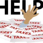 Taxes with a hand
