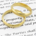 Prenuptial agreement. Shallow DOF on the word PROPERTY